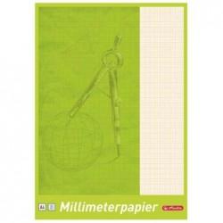 HERLITZ cahier papier millimétrique, format A4, 80 g/m2, 25 f