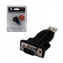 MCL SAMAR Convertisseur USB 2.0 série RS232 1 port DB9 mâle + rallonge 1,80m