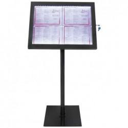 SECURIT Porte menu Eclairé BLACK STAR, pour 4 x feuilles A4