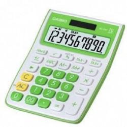 CASIO Calculatrice de Bureau MS 10VC Verte