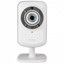 D-LINK Caméra Réseau IP Domestique sans Fil Vision Diurne + Nocturne 128 MB Blanc