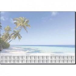 SIGEL Sous-main Bloc Papier avec calendrier sur 3 ans, 59,5 x 41 cm, plage, 30 feuilles