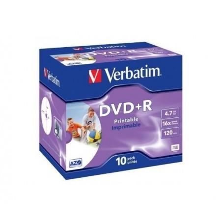 VERBATIM Boite de 10 DVD+R 16x 4,7Go