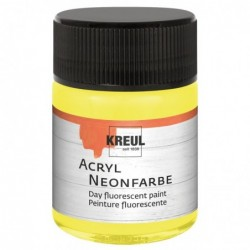 KREUL Flacon 50 ml Peinture Acrylique Fluorescente Jaune