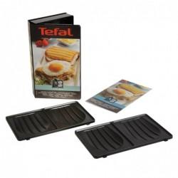 TEFAL Coffret Snack Collection - 2 plaques croque monsieur + 1 livre de recettes