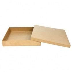 DÉCOPATCH Boîte carrée 21x21x13,5cm à Décorer