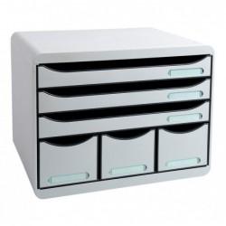 EXACOMPTA STORE-BOX MAXI 6 tiroirs ( 3 A4+) Office gris lumière