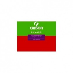 CANSON Buvard, 250 g/m2, blanc, dimensions: 500 x 650 mm Lot de 25