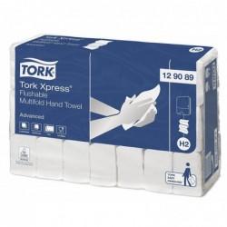 TORK Lot de 21 x 200 feuilles Essuie-mains Xpress 2 plis 25,5x21,2 cm