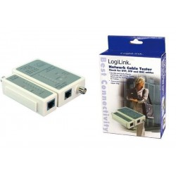 LOGILINK Testeur de câble Logilink RJ45 et BNC avec unité Remote