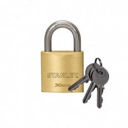 STANLEY Cadenas solide solide 30 mm anse standard, 3 clés