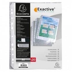 EXACOMPTA Sachet 20 pochettes perforées pour EXACTIVE