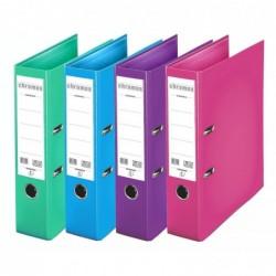 ESSELTE Lot de 10 Classeurs à levier CHROMOS PLUS PP Dos de 8cm coloris assortis mode