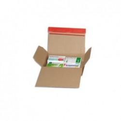 COLOMPAC Carton fond automatique, fermeture autocollante 15,9 x 7 x 12,9 cm