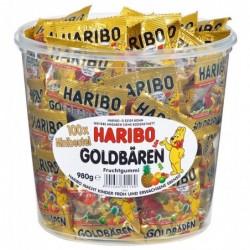 HARIBO Boite de 100 Sachet de 10g de Bonbons gélifiés aux fruits l'Ours d'Or