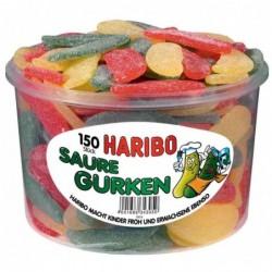 HARIBO Boite de 150 Bonbons gélifiés aux fruits CONCOMBRES ACIDES