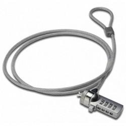 EDNET câble antivol pour notebook à combinaison 1,5 m