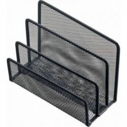 HELIT Trieur à courrier Mesh en fil métal 3 Compartiments noir