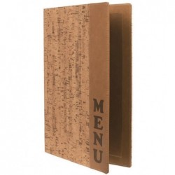 SECURIT Protège-menus DESIGN CORK A4 Beige