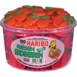 HARIBO Boite de 150 Bonbons gélifiés aux fruits FRAISES GÉANTES 1,35 Kg