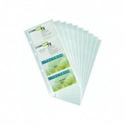 DURABLE Lot de 10 Pochettes pour 8 cartes de visite VISIFIX