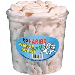 HARIBO Boite Hermétique 150 Bonbons Guimauve tendres SOURIS BLANCHES