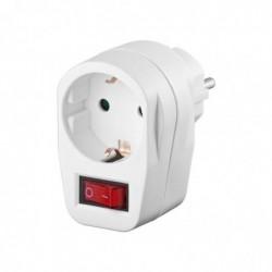 GOOBAY Prise Avec interrupteur CEE 7/4 Switch - 1x  CEE 7/4 jack Blanc
