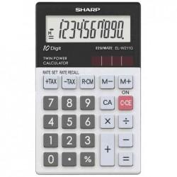 SHARP Calculatrice de poche modèle EL-W211G GY 10 Chiffres