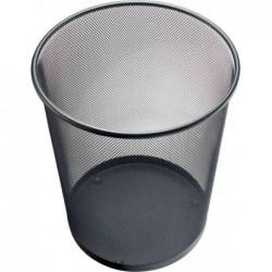 HELIT Corbeille à papier Mesh en Fil Métal 15 litres h 265 mm Noir
