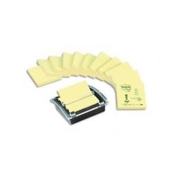 POST-IT dévidoir insert translucide+12 blocs Znotes de 100fj pastel 76x76 100%recyclé