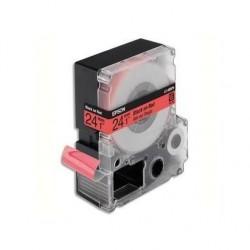 EPSON cassette pour LW-900P Couleur Pastel Noir sur Rouge 24/9 C53S627400