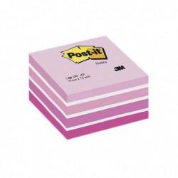 POST-IT Bloc cube 450 F rose pastel 76 x 76 mm
