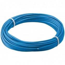 GOOBAY Câble Cuivre Multibrin (18 x 0,1 mm) Isolé 10 m Bleu