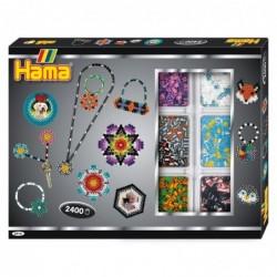 """HAMA Coffret Cadeau 2400 Perles à Repasser Midi 5 mm """"boîte créative"""""""