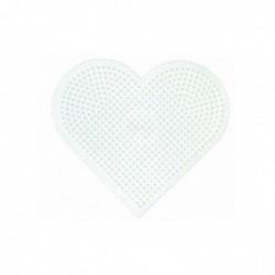 HAMA Plaque pour perles Midi Coeur grand modèle Blanc