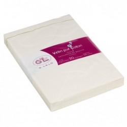 G.LALO 20 enveloppes 114x162mm Vélin pur coton gommées Crème
