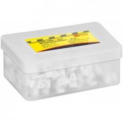 FIXPOINT Boite de 100 Cable clip pour Câble 5mm Blanc