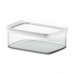 EMSA boîte de conservation OPTIMA, 4,4 l, transparent/blanc