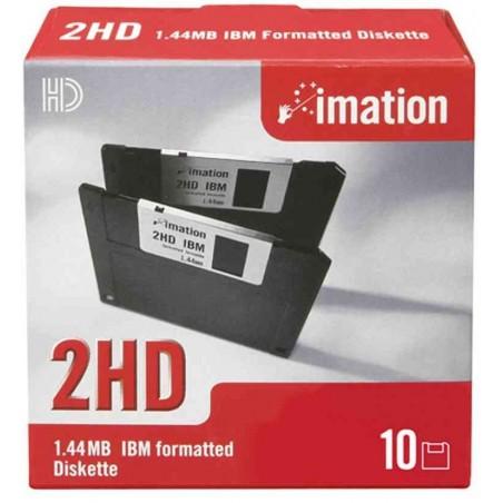 """IMATION Boite de 10  Disquette DSHD 135 TPI 3,5"""", 1,44 Mo, formatée DOS"""