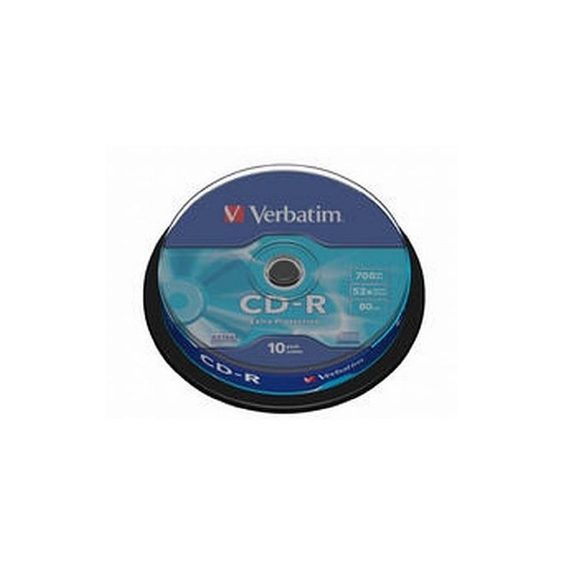VERBATIM Spindle de 10 CD-R 80 mn 52X 700 Mo Extra protection surface
