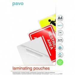 PAVO Boite de 100 Pochette à plastifier A4 150 (2x75) Mic MATTE