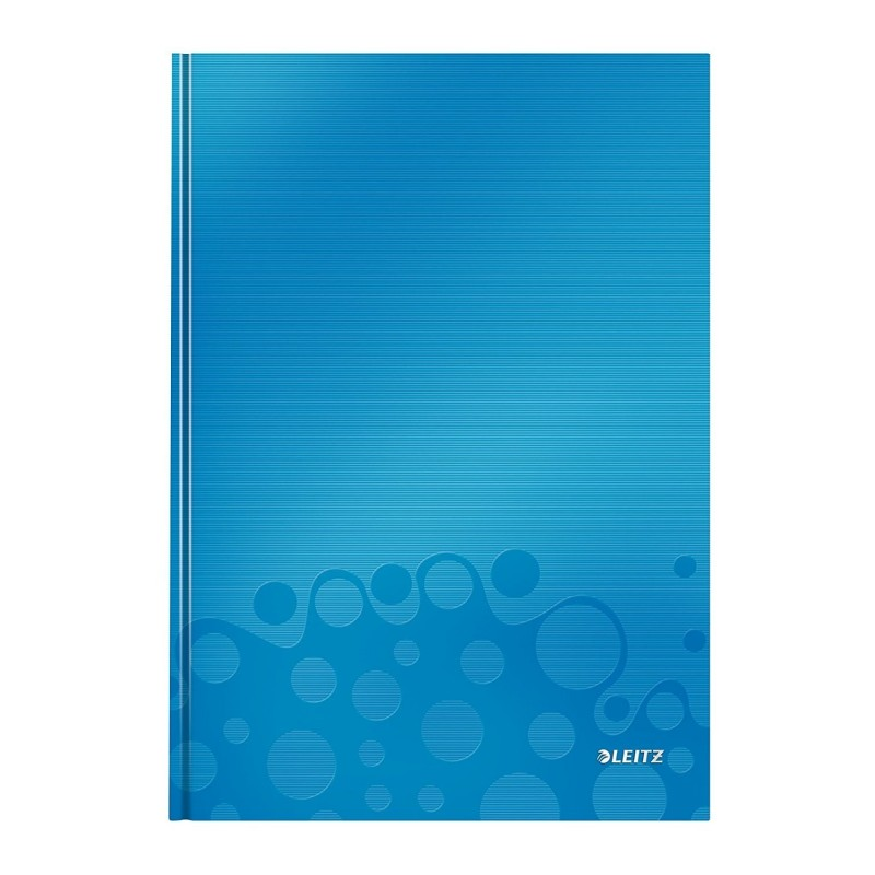 LEITZ Carnet WOW format A4 ligné 80 Feuilles 90g Bleu métallique