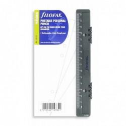 FILOFAX Perforatrice format Personal avec réglette Noir