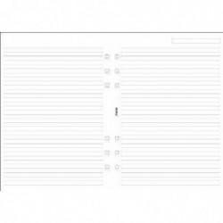 FILOFAX Recharge format A5 feuilles de notes lignées Blanc