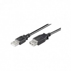 GOOBAY Rallonge USB 2.0 Hi-Speed Charge 5 m Noir