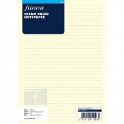 FILOFAX Recharge format A5 feuilles de notes lignées Crème