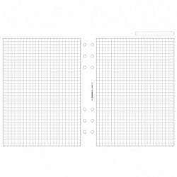 FILOFAX Recharge format A5 feuilles de notes quadrillées Blanc