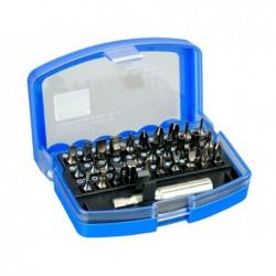 AKEMY Kit tournevis portable 31 pièces en 1 avec crochet clip pour ceinture - 30 embouts +1 connecteur à douilles 6.3mm magn...