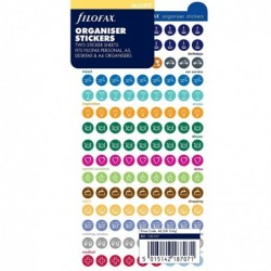 FILOFAX Stickers autocollants déco pour organiseur, formes rondes coloris assortis
