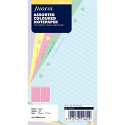 FILOFAX Recharge format Personal paquet de 100 feuilles de notes lignées coloris assortis